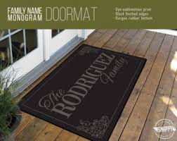 Personalized Business Rugs Welcome Mat Etsy