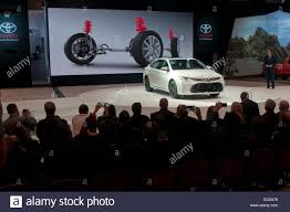 toyota company chicago usa 12th feb 2015 an official of toyota company stock