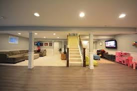 interior waterproof basement flooring ideas wood with white