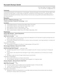 Medical Doctor Resume Example by Er Resume Free Resume Example And Writing Download