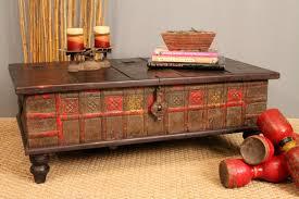 decorate unique vintage trunk coffee table