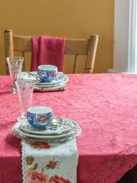 luxurious linen jacquard tablecloth cranberry linens u0026 kitchen
