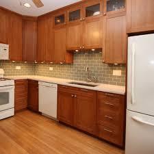 White Kitchen Cabinets White Appliances Medium Stained Cabinets White Appliances Kitchens Pinterest