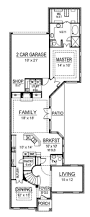 Narrow House Plans With Garage 82 Best Home Plans Images On Pinterest Home Plans Floor Plans