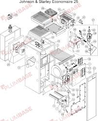 exploded floor plan johnson u0026 starley economaire 25 exploded views and parts list