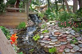 Rock Garden With Water Feature Garden Design With Succulent Rock Ideas And Small Deck Water
