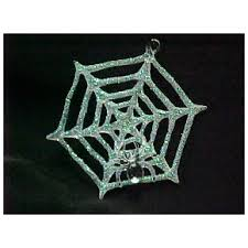 spun glass spider web ornament the loft