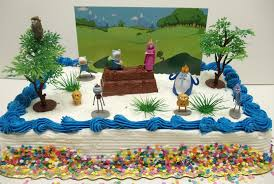 themed cake decorations adventure time and regular show birthday cake topper