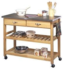 stainless steel topped kitchen islands home styles furniture solid wood top kitchen cart in