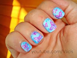 imagenes de uñas decoradas con konad diseño uñas konad m36 azul y rosa konad nail design m36 blue and
