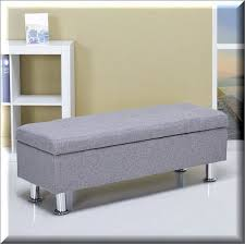 Ottomans Ebay Storage Ottoman Bench Ash Modern Seat Living Room Furniture
