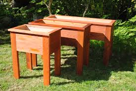 Redwood Planter Boxes by Redwood Raised Planters
