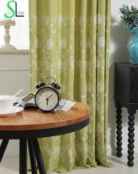 Living Room Curtains Silk Compare Prices On Silk Embroidered Curtains Online Shopping Buy