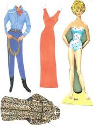 barbie paper doll 1963 free pdf printables papieren
