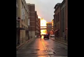 crocker park tree lighting 2017 video explosion fireball rocks crocker park scene and heard