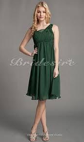 a linie herzausschnitt knielang chiffon brautjungfernkleid mit gestupft p551 bridesire grün brautjungfernkleider grün
