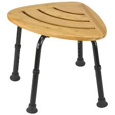 shop dmi bamboo freestanding shower seat at lowes com