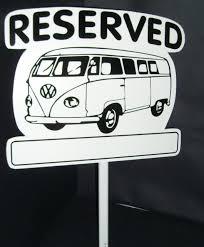 volkswagen van cartoon reserved sign vw camper style u2013 hitch n pitch