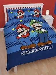 Mario Bros Bed Set Nintendo Mario Brothers Panel Duvet Cover Bedding Set