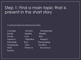 story themes about friendship developing a thematic statement ppt video online download