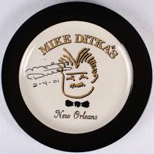 autograph plate mike ditka signed saints plate inscribed 2 4 01 jsa coa