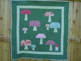 kid bedroom fabulous green mushroom baby quilt design for baby