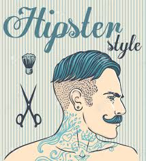 Hairdresser Business Card Templates Hipster Barber Shop Business Card Design Template Vector