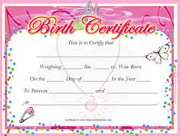 birth certificate templates free word pdf psd format download
