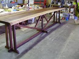 Slab Wood Bar Top Thick Slab Table Top Construction