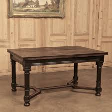 Antique Dining Furniture 19th Century Neoclassical Draw Leaf Dining Table Inessa
