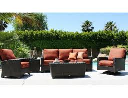 sofas etc ventura patio renaissance ventura collection 3 piece synthetic wicker deep