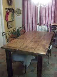 Farm Style Dining Room Sets - farmhouse style kitchen dining room table by woodchips mac