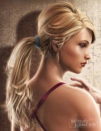 ponytail hair 5 elite ponytail hair 3d model 3d models and 3d
