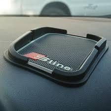 Accessories For Cars Interior Super Sticky Pad Anti Slip Mat For Car Phone Gps Black Audi Q5 Q7