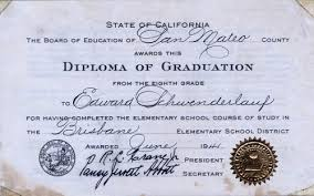graduation diploma calisphere brisbane elementary school graduation diploma