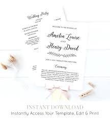 order of wedding program template wedding program fan template