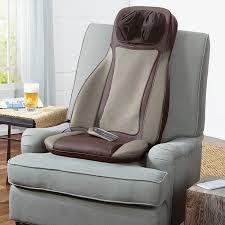 Massage Pads For Chairs S6 Shiatsu Massaging Seat Topper At Brookstone U2014buy Now