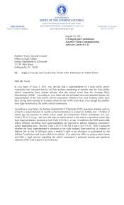 Letter To The Attorney General by In Attorney General Advisory Letter