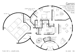 Five Bedroom Houses Floor Plan Dl 5206 Monolithic Dome Institute Future House