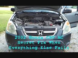 2008 honda crv air conditioner recall 2002 honda crv a c recall fix rarely seen tip