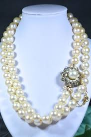 pearls necklace real images Pearl necklace with 74x authentic japanese salt walter akoya jpg