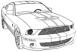 transportation mustang coloring book fall coloring pages free