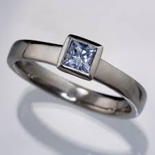 light blue sapphire engagement rings light blue sapphire engagement ring princess cut bezel set