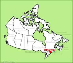 Map Of Ottawa Ottawa Location On The Canada Map