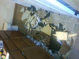 Remove Mirror Glued To Wall Bathroom Mirror Just Fell Off The Wall Floor How Much