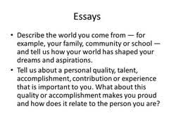 personal quality essay tell me about your family essay 2017