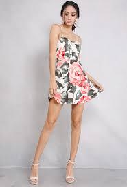 sun dress floral mini sundress shop floral dresses at papaya clothing
