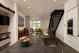 home renovation industrial chic row home renovation in dupont circle dc bowa