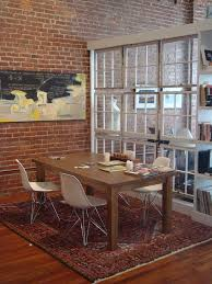 divider brick dining room industrial with room divider cone