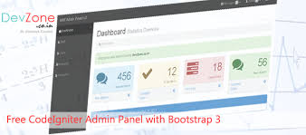 codeigniter free admin panel with twitter bootstrap 3 version2